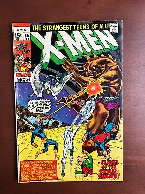 X-Men #65 (1970) 7.0 FN Marvel Key Issue Comic Bronze Age Neal Adams Stan Lee