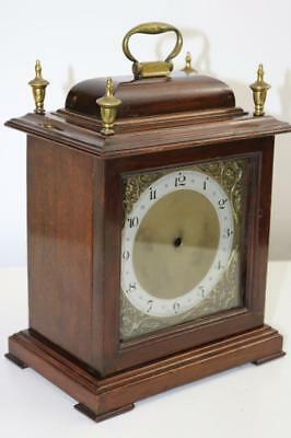 BRACKET CLOCK CASE mahogany BEAUTIFUL DIAL & BRASS FINIALS