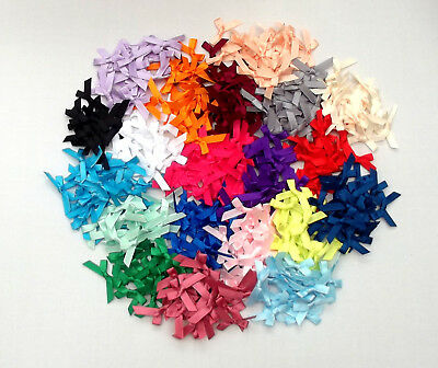 Clearance! Polyester Ribbon Bows Wedding Craft Sewing 7mm Pks 20 5 Colours