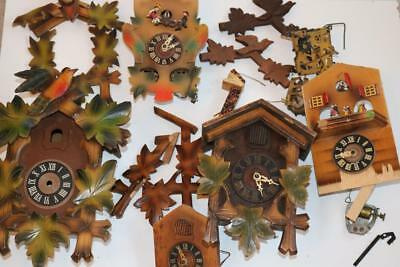 CUCKOO CLOCK PARTS cases movements hands bellows crowns musical bits etc