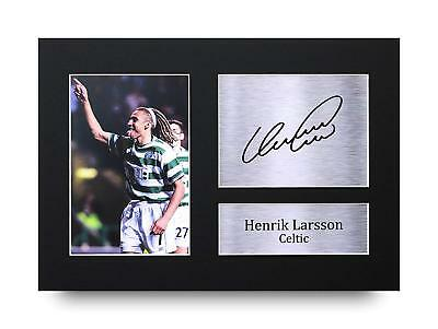 Henrik Larsson Gift Signed A4 Printed Autograph Celtic Gifts Print Photo Picture