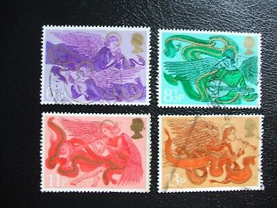 SG993-996 1975 Christmas Angels. Used Set of Stamps.
