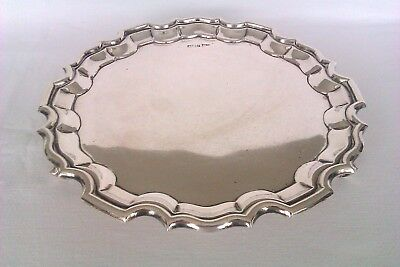Beautiful Solid Silver Ornate Edwardian Footed Tray Walker & Hall 1909