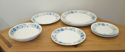 Set of 12 Wedgwood Plates and Dishes - 'Clementine'