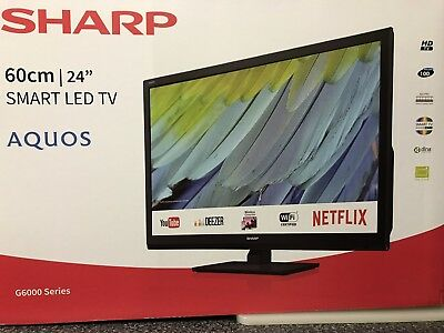 """Sharp LC-24CHG6001KF 24"""" Smart TV with Freeview Play - Black"""