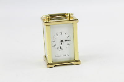 Vintage LONDON CLOCK CO. Brass Miniature CARRIAGE CLOCK Key-Wind (464g)