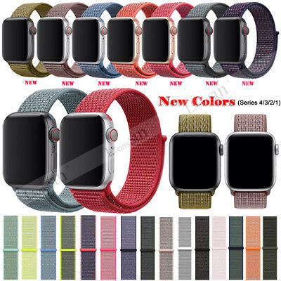 42/44mm Nylon Woven Sport Loop iWatch Band Strap For Apple Watch Series 4 3 2 1