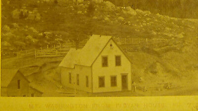 STEREOVIEW 1880S  MT WASHINGTON  1ST SETTLERS TOWN VIEW BUILDINGS    card