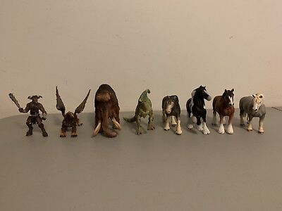 Schleich Collection Lot Horses Clydesdale Willy Mammoth Dinosaur Griffin