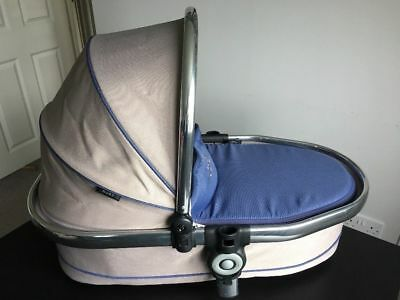 ICANDY PEACH 3 MAIN CARRYCOT in AZURE (airforce blue/biscuit)