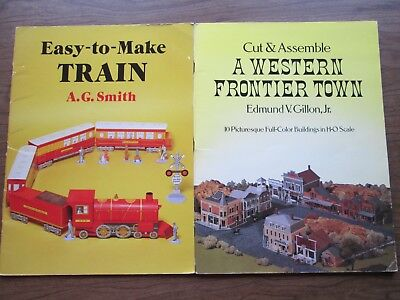 Cut and Assemble a Western Frontier Town & Easy-To-Make Train vintage Dover book