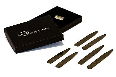 Magnetic collar stays by Dapper Man - 3 pairs, 3 Sizes in one pack Price Slash