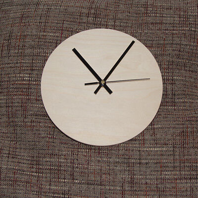 Clock Blank Kit with quartz movement, round shape in Birch Plywood, hand made