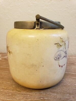Antique Royal Rudolstadt Pottery Biscuit Jar. Tharinqie Germany Circa 1905.   7