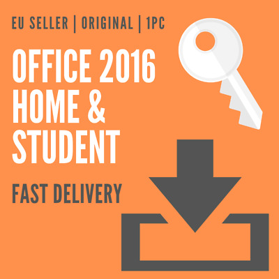 MS Office 2016 Home & Student Product Key (Multilanguage) RETAIL ORIGINAL