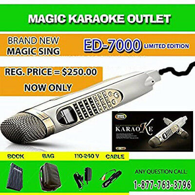 Magic Sing Karaoke Mic ED7000 Builtin with a 793 Karaoke Bar Favorite Songs