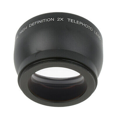 52mm 2x Magnification Tele Telephoto Lens for Canon Nikon Pentax Sony DSLR