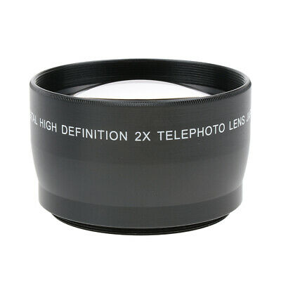 55mm 2x Magnification Tele Telephoto Lens for Canon Nikon Pentax Sony DSLR
