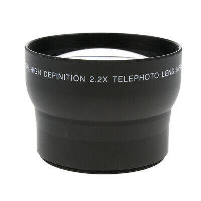 62mm 2x Magnification Tele Telephoto Lens for Canon Nikon Pentax Sony DSLR