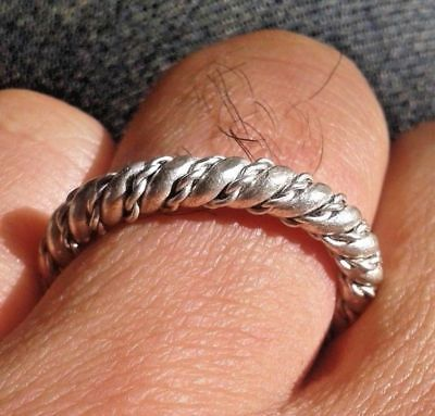 Viking Silver Twisted Ring Scandinavian viking Norse Jewelry