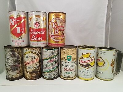 Flat top beer cans
