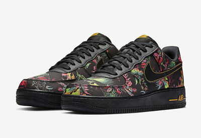 NEW AUTHENTIC 2019 Nike Air Force 1 '07 LV8 FLORAL CASUAL BV6068-001 MEN SZ 9