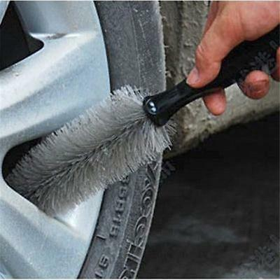 Universal Car Wheel Rims Tire Washing Handle Brush Auto Cleaning Tool LIN
