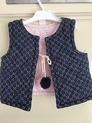 Seed Heritage Baby Reversible Quilted Vest