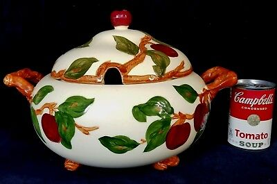 Large Franciscan Pottery USA Apple Soup Tureen w Lid