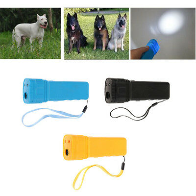 Ultrasonic Dog Chaser Stops Aggressive Animal Attacks Repeller With Flashlight