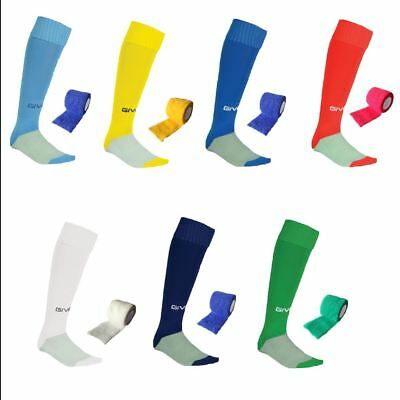 Givova Football socks + FREE MATCHING SOCK TAPE - Boys mens hockey rugby sports