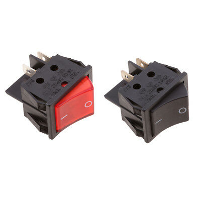 Car Motorcycle DPST ON OFF 4 Pin Terminals Rocker Switch 20A AC 250V 2pcs