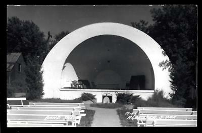 1¢ Wonder's ~ Real Photo Postcard W/ Band Shell At Alcester, South Dakota ~ R452