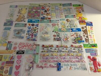 Mixed lot of Scrapbooking Embellishments - 27 packets - NEW - Baby Theme Elmo ++