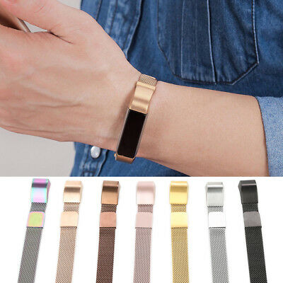 for HR Accessory Bands for Fitbit Alta Band Strap Fashion Metal Loop Wristband