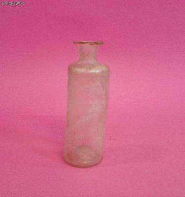Ancient Roman Glass Bottle With Light Iridescence