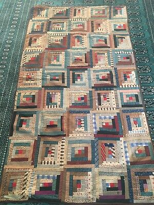 Beautiful Early 1900's Antique Vintage Patchwork Quilt 36 X 67 As Is Cutter