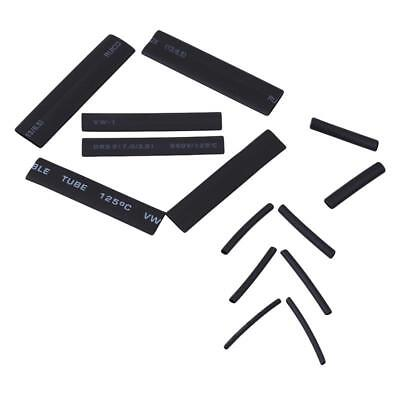 127Pcs Heat Shrink Tubing Cable Tube Sleeving Kit Wrap Wire Black DD