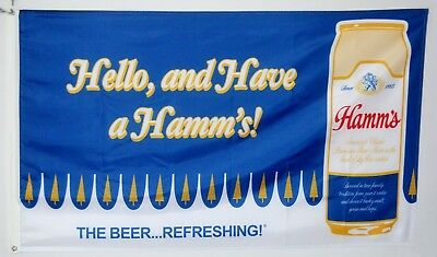 Hamm's beer flag Hello and Have a hamm's 3X5FT Banner US Seller Shipper