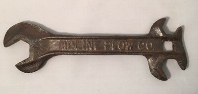 """Antique Wrench Plow Farm Implement Tractor Vintage Hand Tool  Moline Plow Co 10"""""""