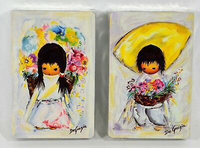 DeGrazia Double Deck Vintage Graphica Playing Cards Sealed NOS Made in Canada