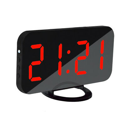 LED Digit Alarm Clock with USB Charging Port Cellphone Charger Snooze Red