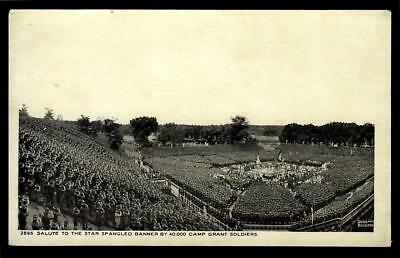 """1¢ Wonder's ~ Pc W/ """"salute To Star Spangled Banner"""" Camp Grant Soldiers ~ R458"""