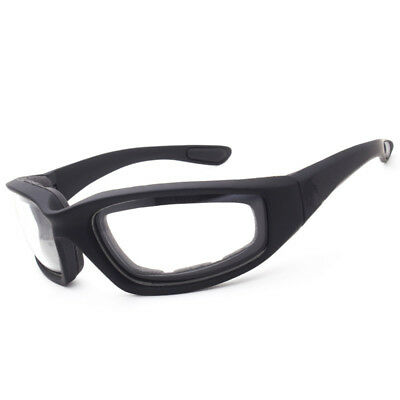 06a7c74c1ea Chopper Wind Resistant Foam CLEAR Sunglasses Sports Motorcycle Riding  Glasses