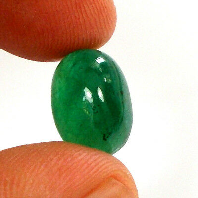 4.58ct Natural Emerald Cabochon Deep Green Unheated Untreated Collection