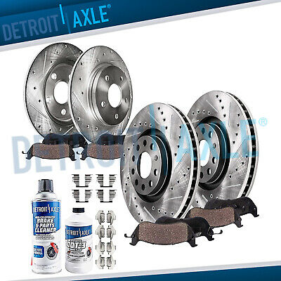 For 06-08 Audi A4 A4 Quattro With 321MM Frt /& Rear Brake Rotors /& Ceramic Pads
