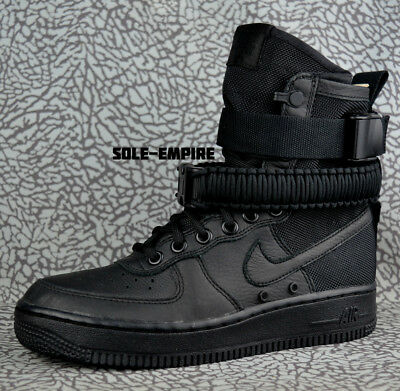 classic fit 47476 169a2 Nike W SF AF1 857872-002 Triple Black Women s Special Forces Air Force 1 HI