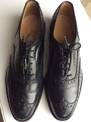 JOHNSTON & MURPHY HERITAGE Size 8.5 Brogue Wing Tip Oxfords Shoes Made In USA