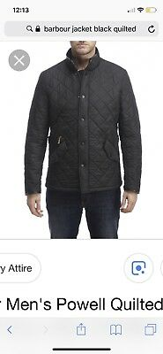 Mens Barbour Liddesdale Quilted Jacket Size lg/Md in black. Can send more pixs