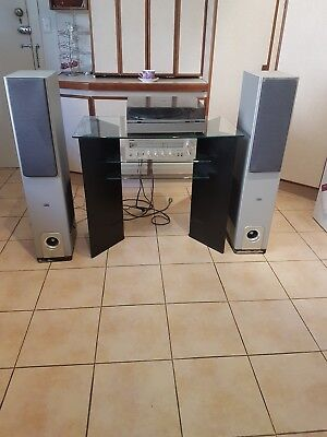 Yamaha CR 200 Stereo  Receiver, Rotel RL 1000 Tower Speakers Welling Turntable.